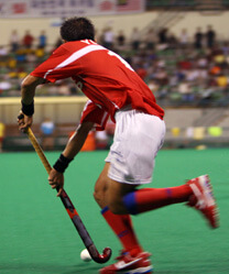 International hockey player