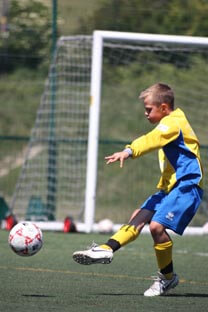 Allstar soccer play Max Thompson