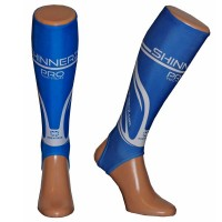 Blue PRO shin sleeves Adult