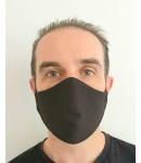 Cotton Face Mask - Washable & Reusable - Black