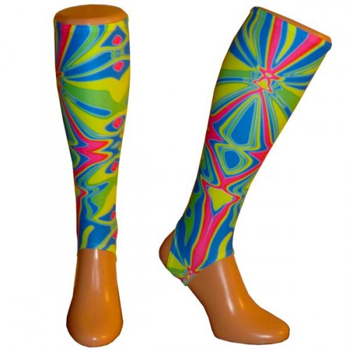 Electric Vibrant shin guard liners Small