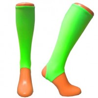 Electric Neon Green shin guard liners  Adult