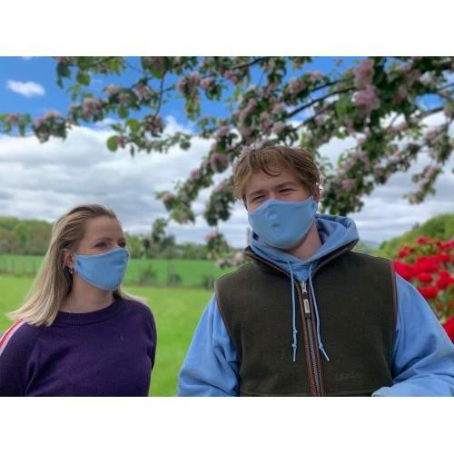 Cotton Face Mask - Washable & Reusable - Blue
