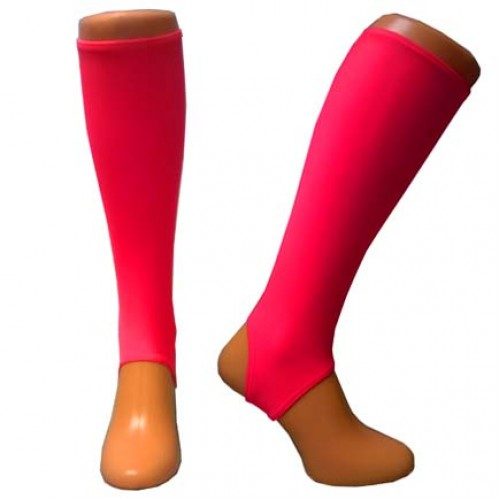 Electric Pink shin guard liners  Adult