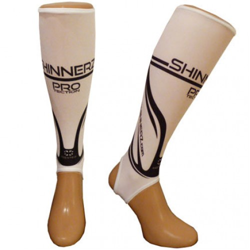 White PRO shin pad liners Adult