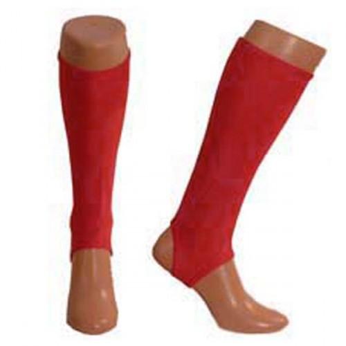 Red shin pad liners Medium